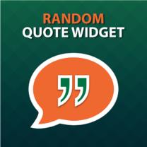 Random Quote Widget