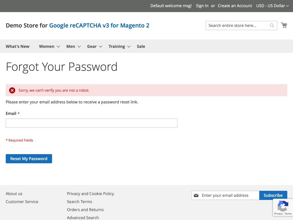 Google reCAPTCHA v3 - Magento 2 Extension from SafeMage