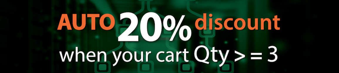 Auto 20% discount when your cart Qty more or equals 3
